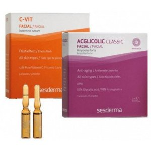 Pack Ampollas Acglicolic + C-vit Tratamiento Flash Effect