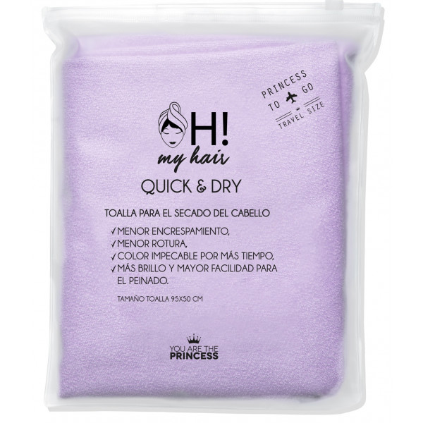 Oh My Hair Toalla para el Secado del Cabello Travel Size