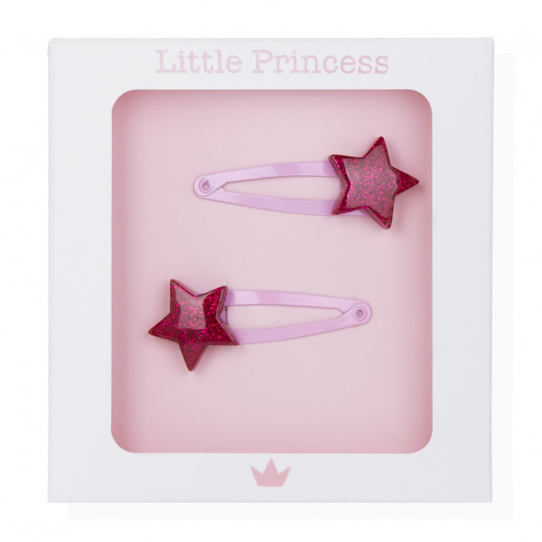 Little Princess Set 2 Clips Estrella Glitter