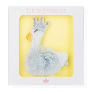 Little Princess Clip Cisne Gris