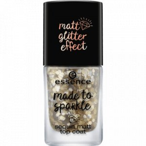 Made to Sparkle Top Coat Matte Lentejuelas
