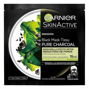 Mascarilla Facial de Tejido Black Pure Charcoal