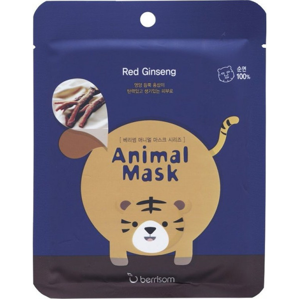 Animal Mask Tiger Ginseng Rojo