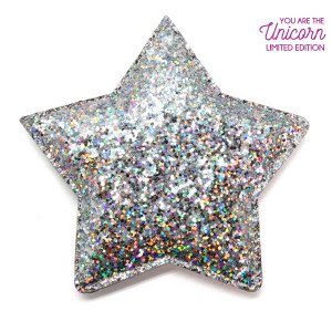You Are The Unicorn Espejo Estrella Glitter Plata