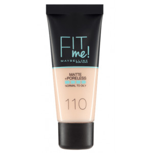 Fit Me Matte + Poreless Base de Maquillaje 110