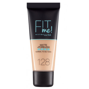 Fit Me Matte + Poreless Base de Maquillaje 128