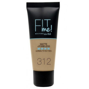 Fit Me Matte + Poreless Base de Maquillaje 312