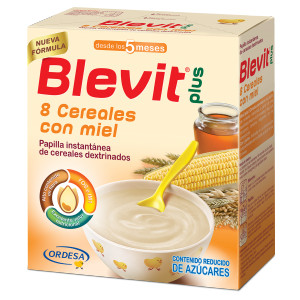 Papillas Blevit Plus 8 cereales miel
