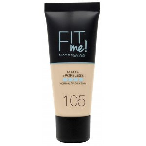 Fit Me Matte + Poreless Base de Maquillaje 105 Natural Ivory