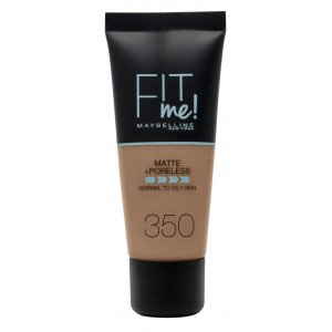 Fit Me Matte + Poreless Base de Maquillaje 350 Caramel