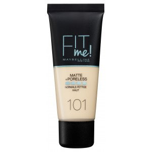 Fit Me Matte + Poreless Base de Maquillaje 101 True Ivory