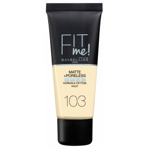 Fit Me Matte + Poreless Base de Maquillaje 103 Pure Ivory