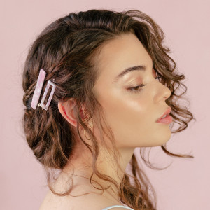 Oh My Hair Set Clips Carey 3 rosa