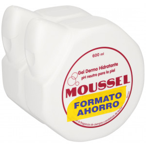 MOUSSEL GEL CREMA HIDRATANTE Pack 2x600 ml