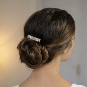 Oh My Hair Clip Cristales Blanco